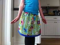 Lazy Days skirt for Parker - fabric from Healdsburg shop