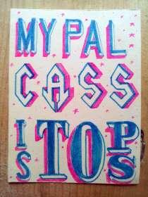 My Pal Cass - ATC