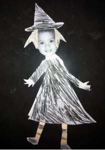 7 yo daughter's paper witch